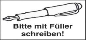 Bitte mit Füller schreiben! Holzstempel bestellen | Weltbild.de